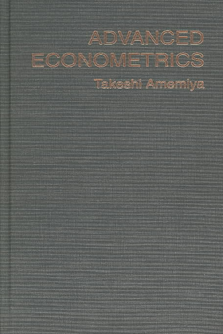 Advanced Econometrics By Amemiya, Takeshi